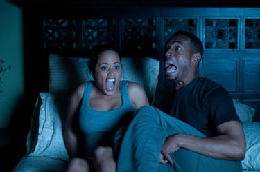 "Essence Atkins and Marlon Wayans in ""A Haunted House."""