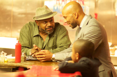 "Charles S. Dutton as Cofield, Common as Vincent and Michael Rainey, Jr. as Woody in ""Luv."""