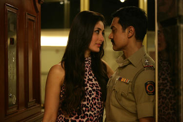 "Kareena Kapoor as Rosie and Aamir Khan as Inspector Shekhawat in ""Talaash: The Answer Lies Within."""