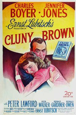 "Poster art for ""Cluny Brown."""