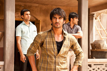 "Raj Kumar Yadav as Govind, Sushant Singh Rajput as Ishaan and Amit Sadh as Omi in ""Kai Po Che."""