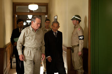 "Tommy Lee Jones and Isao Natsuyagi in ""Emperor."""
