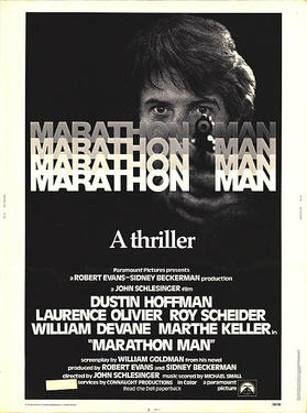 "Poster art for ""Marathon Man."""