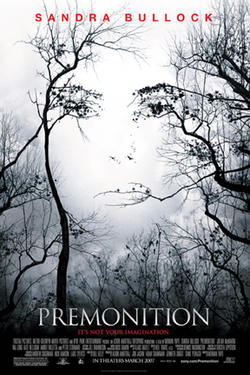 "Poster art for ""Premonition."""