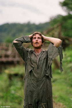 "Christian Bale in ""Rescue Dawn."""