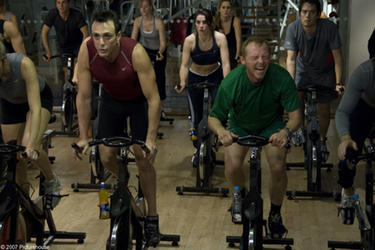 "Hank Azaria and Simon Pegg in ""Run, Fat Boy, Run."""