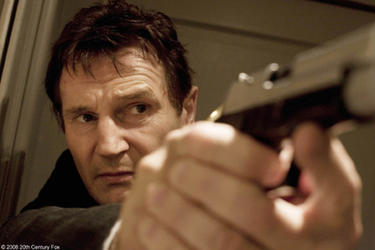 "Liam Neeson as Bryan in ""Taken."""