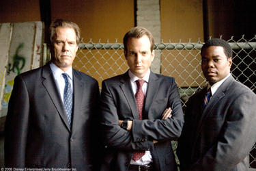 "Jack Conley, Will Arnett as Special Agent Kip Killian and Gabriel Casseus as Carter in ""G-Force."""