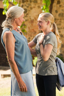 "Vanessa Redgrave as Claire and Amanda Seyfried as Sophie in ""Letters to Juliet."""