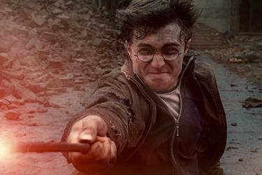 "Daniel Radcliffe as Harry Potter in ""Harry Potter and the Deathly Hallows: Part 2."""