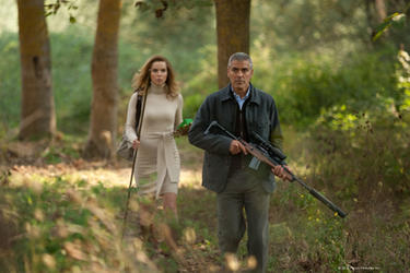 "Thekla Reuten as Mathilde and George Clooney as Jack in ""The American."""