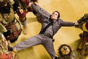 "Ben Stiller, nearly pulled apart, in ""Night at the Museum."""