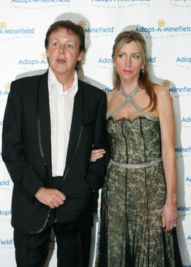 "Paul McCartney and Lady Heather Mills McCartney at the ""Adopt-A-Minefield"" Benefit Gala."