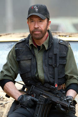 "Chuck Norris in ""The Expendables 2."""