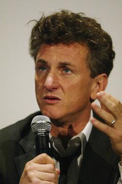 "Sean Penn at the Hollywood premiere of ""The Assassination of Richard Nixon""."