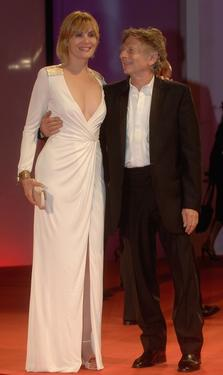 "Roman Polanski and Emmanuelle Seigner at the premiere of ""Backstage""."