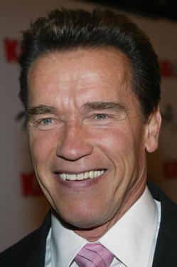 "Arnold Schwarzenegger at the Hollywood premiere of ""The Kid & I."""