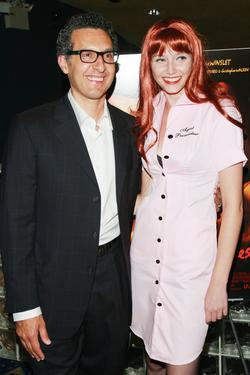 "John Turturro and Marissa Irwin at the screening of ""Romance & Cigarettes"" - After party."