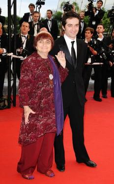 "Agnes Varda and Mathieu Demy at the premiere of ""Spring Fever"" during the 62nd International Cannes Film Festival."