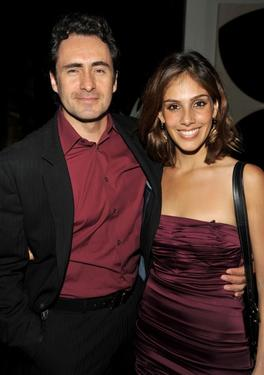 "Demian Bichir and Sandra Echeverria at the ""Rock The Vote"" Hosted by Christina Aguilera."