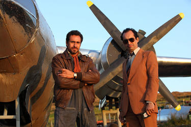 "Demian Bichir and Bruno Bichir in ""The Runway."""