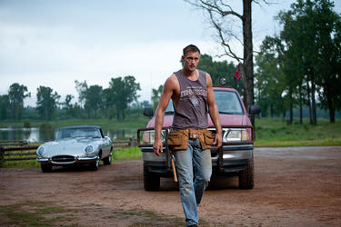 "Alexander Skarsgard as Charlie in ""Straw Dogs."""