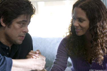 "Benicio Del Toro and Halle Berry in ""Things We Lost in the Fire."""