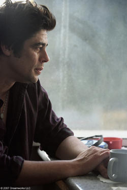 "Benicio Del Toro in ""Things We Lost in the Fire."""