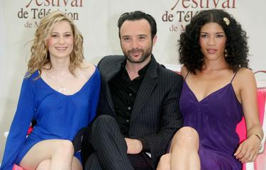 "Camille Sullivan, John Cassini and Klea Scott at the California premiere of ""Vice."""