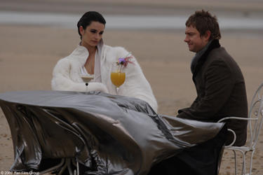 "Penelope Cruz and Martin Freeman in ""The Good Night."""