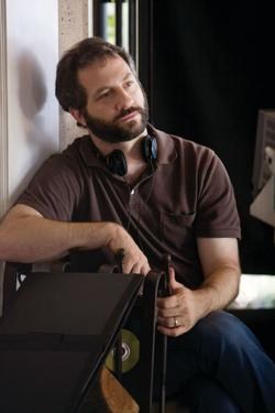 "Writer/director/producer Judd Apatow on the set of ""Funny People."""