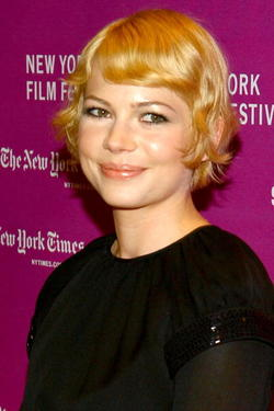 "Michelle Williams at the New York Film Festival screening of ""I'm Not There."""
