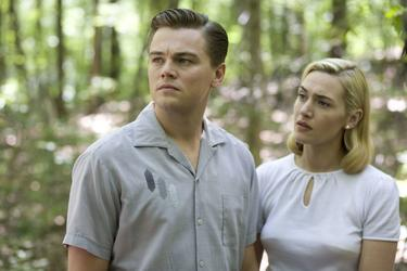 "Leonardo DiCaprio as Frank Wheeler and Kate Winslet as April Wheeler in ""Revolutionary Road."""
