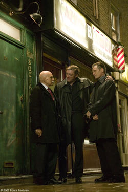 "Mina E. Mina, Vincent Cassel and Viggo Mortensen in ""Eastern Promises."""