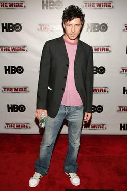 "Aidan Gillen at the premiere of ""The Wire."""
