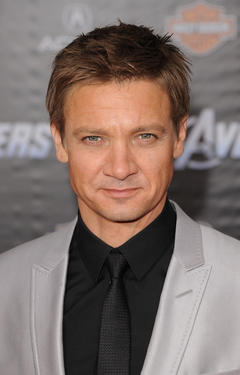 "Jeremy Renner at the California premiere of ""Marvel's The Avengers."""