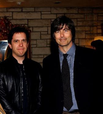 Lee Unkrich and Thomas Newman at the champagne reception honoring the Academy Award Music Nominees.