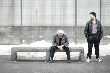 "Niels Arestrup as Cesar and Tahar Rahim as Malik in ""A Prophet."""