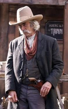 "Sam Elliott as Lee Scoresby in ""The Golden Compass."""