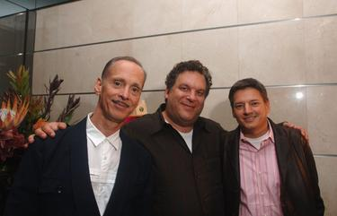 "John Waters, Jeff Garlin and Ted Sarandos at the after party of ""This Filthy World""."