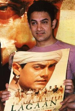 "Aamir Khan at the launch of the comic book ""Laagan."""