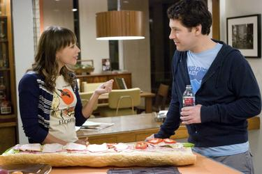 "Rashida Jones as Zooey Rice and Paul Rudd as Peter Klaven in ""I Love You, Man."""