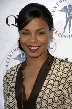 "Sanaa Lathan at the launch of Cynthia Garrett and QVC's ""Love Conquers All"" jewelry line."