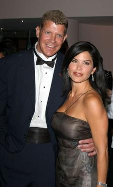Lee Reherman and Lauren Sanchez at the Shalom Foundation Gala.