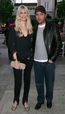 "Claudia Schiffer and Matthew Vaughn at the premiere of ""Layer Cake."""
