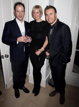 "Matthew Vaughn, Dawn Barlow and Gary Barlow at the after party of the European premiere of ""Kick-Ass."""