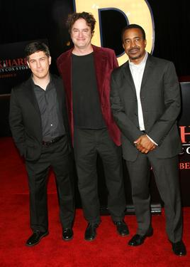 "Chris Parnell, Matt Besser and Tim Meadows at the premiere of ""Walk Hard: The Dewey Cox Story."""