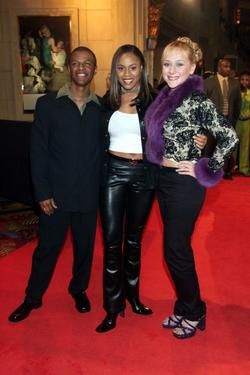 Phil LaMarr, Tatyana Ali and Nicole Sullivan at the 1998 Billboard Music Awards party.