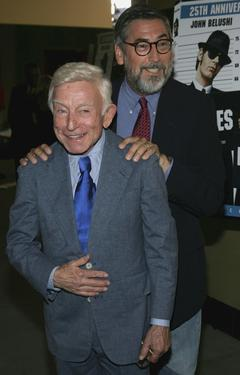 "Henry Gibson and John Landis at the Hollywood Master Storyteller's ""25th Anniversary DVD Release of the Blues Brothers""."