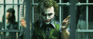 "Heath Ledger in ""The Dark Knight."""